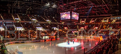 Düsseldorf Eishockey Intro – hochwertiger FineArtPrint (120 cm x 50 cm)