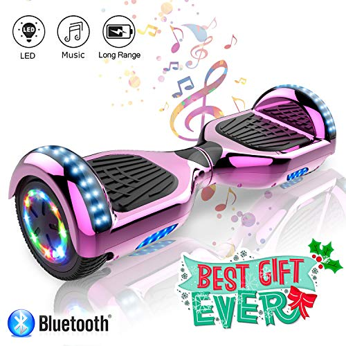 COLORWAY 6,5 Zoll Hover Scooter Board Elektro Scooter Smart Scooter Self Balance Board - Bluetooth - LED Lichter - EU Sicherheitsstandards