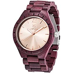 Uwood New Nature Purple Heart Wooden Watch Luxury Designer Wooden Watch