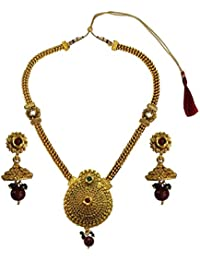 Beingwomen Fashion Jewellery Multicolor Long Antique & Traditional Multicolor Necklace Set For Women