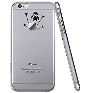 iPhone 6 Plus Case, ESR Mania Series Protective Case Bumper[Scratch-Resistant] [Perfect Fit] Clear Hard Back Cover with Cute Print for 5.5 inches iPhone 6 Plus (Little Lamb)