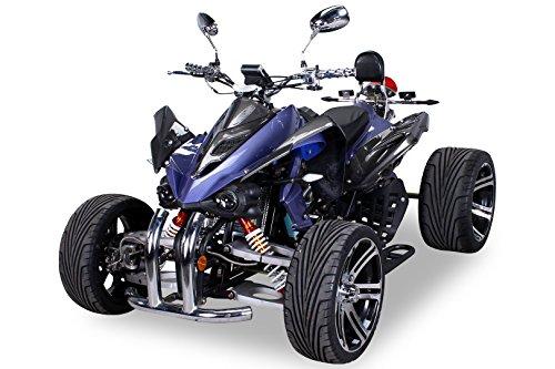 Quad Speedslide 250cc 4-Gang + Rückwärts carbon/blau - mit Straßenzulassung für 2 Personen 190 X 120 X 100 cm
