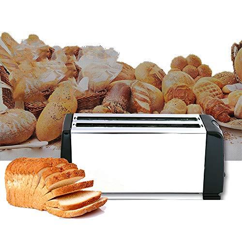 Tostapane per panini, 4 fessure per scaldavivande elettriche e controllo browning regolabile, vassoio raccoglibrici rimovibile per una facile pulizia, scongelamento e riscaldamento