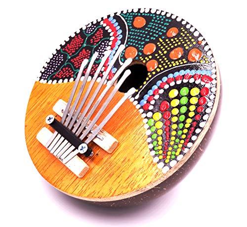 Karimba Kalimba guitarra Piano de pulgada (Sanza Coco instrumento música aborigen pintado azul