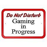 Do Not Disturb Gaming in Progress 9x 6Aluminium Schild Blechschilder Vintage Road Schilder Dose Teller Schilder dekorativer