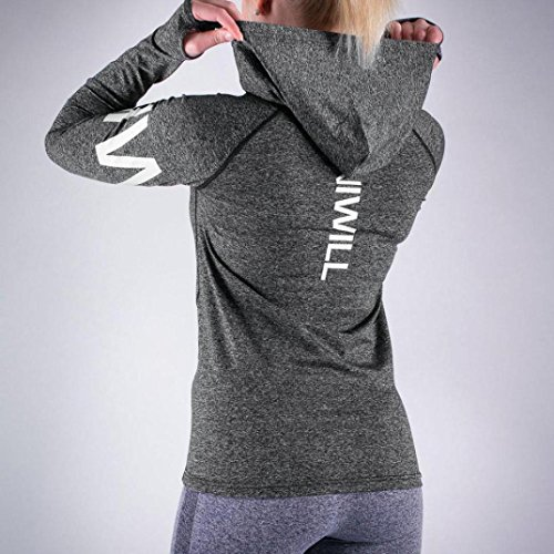Chemisiers T-Shirts Tops Sweats Blouses,Femme Sweat à Capuche Lettre Sweat à Capuche Sportswear Blouse Dark Gray