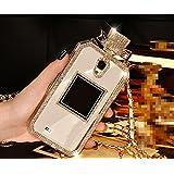 Coque Samsung Galaxy S7 Edge, Luxe Bling Cristal Diamant Bouteille de parfum Style Handbag TPU Case Cover téléphone Etui Housse pour Samsung Galaxy S7 Edge, blanc
