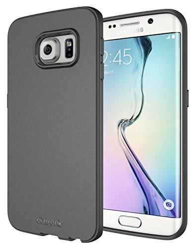 Diztronic Custodia Matte Flessibile TPU Completo per Samsung Galaxy S6 Edge, Carbone Grigio