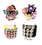 #2: 16 Pcs Stylish Hair Rubber Bands in 4 Styles and Different Colors for Daily and Party Wear Use