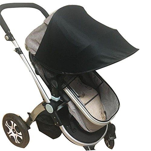 Kinderwagen Universal Sonnenschirm Ray Shade Pram UV Schutz Abdeckung, Wetterschild, elastischer Stoff für Säugling Kids-Simple, 4 Farben, schwarz (Universal Pop-up-shade)