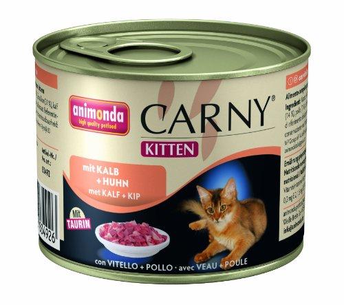 Animonda Carny Kitten mit Kalb plus Huhn 200 g - Katzenfutter, 6er Pack (6 x 200 g)