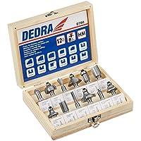 Dedra 780 - Kit de fresas con carburos sinterizados 12 pza Dedra