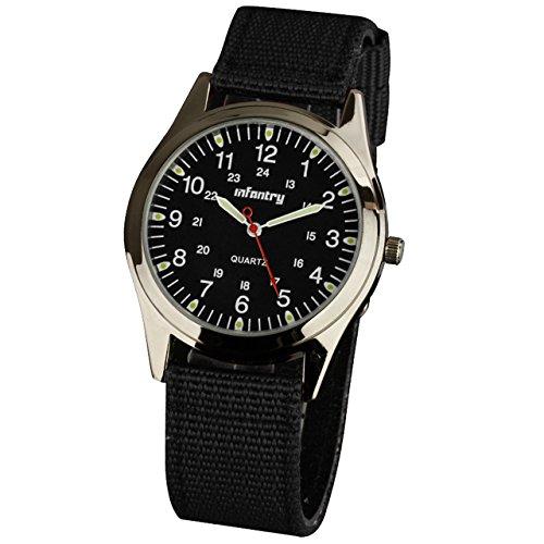 Infantry Herrenuhr Armbanduhr Männer Militär Outdoor Uhr Armbanduhren Für Herren Uhren Herrenarmbanduhr Herrenuhren Schwarz Nylonband