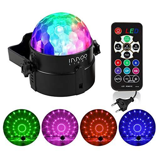 Lampada magica rgb lampada da discoteca luci da palco sfera da discoteca rotante per ktv, discoteca, festa, natale, bar, ecc (4 colori)