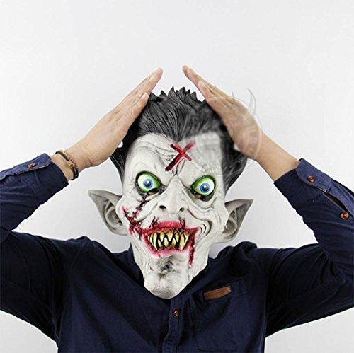 ror Geist beängstigend Emulsion Maske Halloween Ghost Festival Bar Ankleiden Requisiten Ganze Leute Komisch Maske- Lustige Maske (Lustig, Beängstigend Masken)