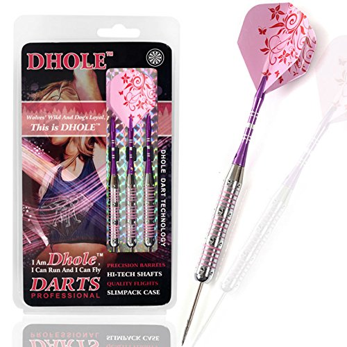 Womens Dart (DHOLE Stahlspitze Ladies Darts mit Aluminium Schäfte, 21 Gramm F1207)