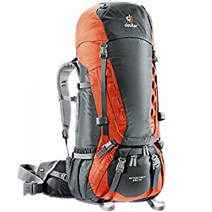 Deuter Aircontact 55 + 10 Sac à dos Granite-Papaya 65 L