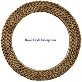 17.5 X 17.5 Inch Premium New And Latest Rope Design Wall Mounted Round Decor Mirror Royal Craft Enterprises