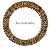 #4: 17.5 X 17.5 inch Premium new and latest rope design wall mounted round decor mirror Royal Craft Enterprises