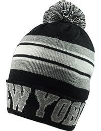 City Hunter Retro NYC Bobble Ski Hat