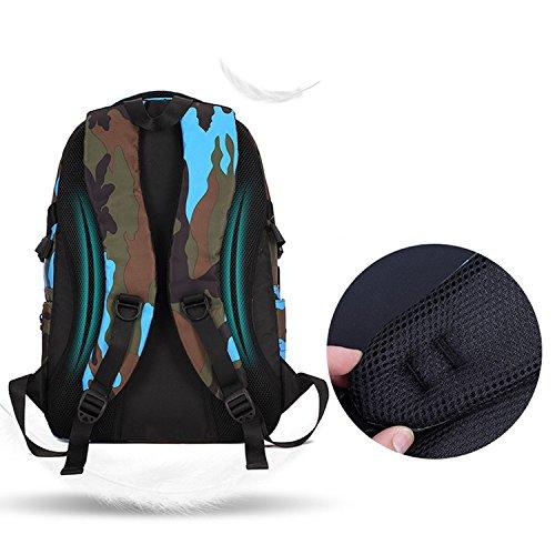 BOZEVON Jungen Mädchen Wasserdichte Rucksack für Kinder Unisex Schulrucksäcke Rucksack für Reisen, Wandern Orange-L