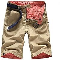Männer Reversible Casual Cropped Pants Herrenmode beschnitten Hose Baumwolle gewaschen Hosen Jugend Mode Shorts europäischen Größen 28-36