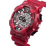 Tomatoa Männer Sportuhren Smartwatch Chronograph Militär Digital Handgelenk Wasserdichte Uhren modernen Design mit Smartfunktionen (Rot, ONE Size)