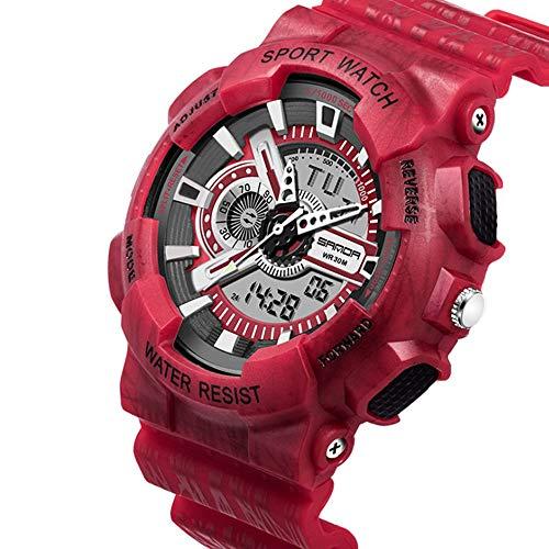 JIUZHOU Mann Sportuhren Chronograph Military Digital Handgelenk Wasserdichte Uhren