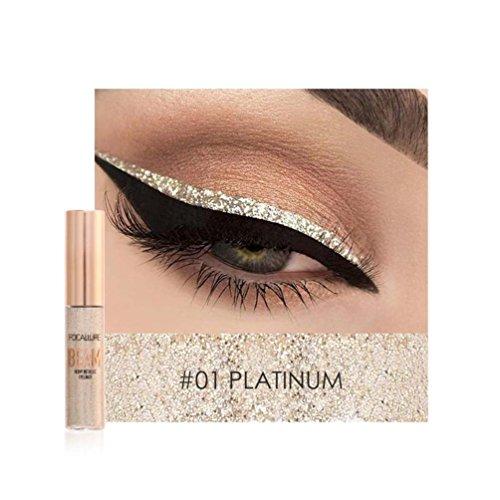 20 Schimmernden Primer (LCLrute FOCALLURE New Fashion Lidschatten High Pearl Eyeliner Diamant High Pearl Eyeliner & Lidschatten Stift (A))