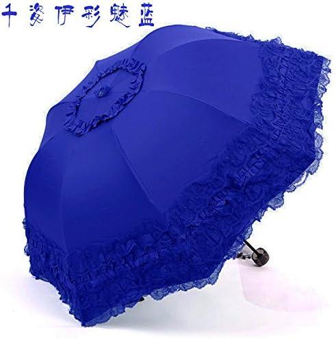 ZQ@QXMerletti ombrelli ombrello pieghevole pieghevole pieghevole ,A1 Ms. sunscreen blu | I Materiali Superiori  | prezzo di sconto speciale  3e8b2d