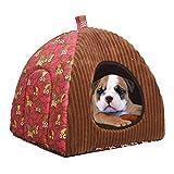 Berrose-Haustier Hund Katze Zelt Haus Zwinger Winter Warm Nest Weiche Faltbare Schlafmatte Pad-Verwendet weiche Hundebett Höhle Welpen Pad