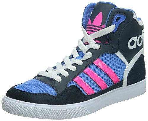 adidas Extaball, Sneaker donna, Azzuro-Blu marino-Rosa, 37 1/3