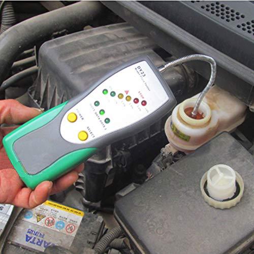 Bremsflüssigkeitstester Bremsflüssigkeitsprüfer brake fluid Tester Ölinspektion Schwanenhals-Detektor Ton und Licht Doppelalarm für DOT3 DOT4 DOT5