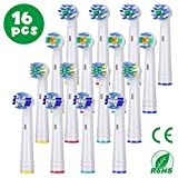 Recambios Cepillo Oral B Compatible, Aiemok 16 Cabezales para Oral B, incluidos 4 Floss Action, 4...
