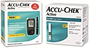 Accu Chek Active Glucometer with 100 Strips (Multicolor)