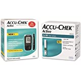 Accu Chek Glucometer With Active Strips - 160 Strips (Multicolor)