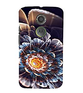 PrintVisa Flower Design 3D Hard Polycarbonate Designer Back Case Cover for Motorola Moto X2
