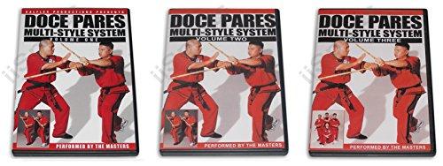 Doce Pares Multi-System 3 DVD Set Filipino Martial Arts Eskrima Kali Arnis Multi-system Dvd
