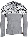 Tazzio Sudadera de hombre | Jersey de punto grueso trenzado | Diseño noruego de rejilla | Ideal para invierno | Tallas S-XXL Grau Brooklyn M