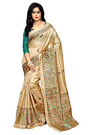 Applecreation Khadi Silk Saree (Mdb8404-D_Beige)