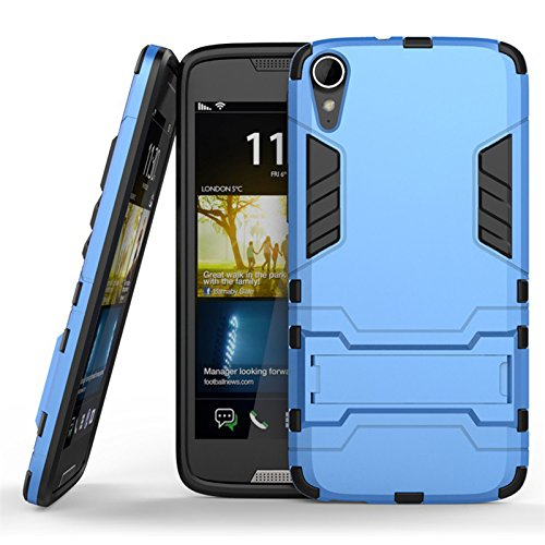 Case for HTC Desire 828 Back Case Layer Hybrid TPU + PC Kickstand Case Soft TPU Cover Hard Cover Plastic Dual Protection Armor Defender Skin Protector - Blue