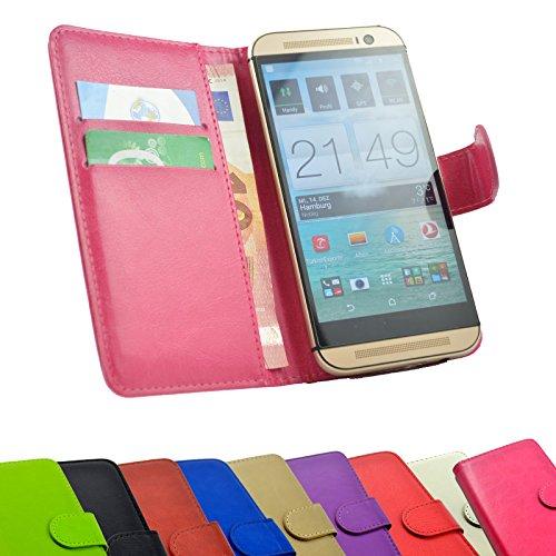 ikracase 2 in 1 set MEDION Life P5004 Smartphone - Handyhülle Handy Tasche Slide Kleber Schutz Case Cover Etui Schutzhülle Handytasche Book Style + Touch PEN in Pink Farbe