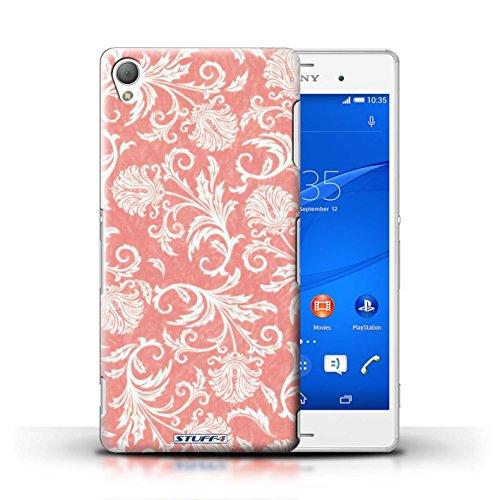Kobalt® Imprimé Etui / Coque pour Sony Xperia Z3 / Fleurs Rouges conception / Série Fleurs Fond Rouge