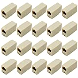 HSeaMall 30 STÜCKE RJ45 Koppler Steckverbinder 8P8C Ethernet Netzwerkkabel Extender Kabel Joiner Stecker LAN Inline Koppler Gerade Modul Adapter Steckverbinder (30PCS RJ45 Coupler Connectors)