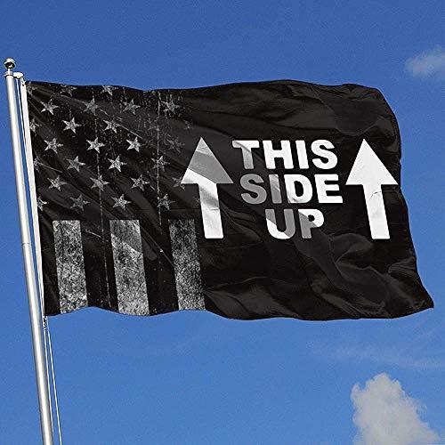 Elaine-Shop Abgenutzte Flaggen im Freien USA Flagge Diese Seite nach Oben 4 * 6 Ft Flagge für Wohnkultur Sport Fan Fußball Basketball Baseball Hockey