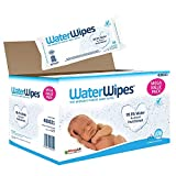 WaterWipes Toallitas para Pieles Sensible de Bebé, 99.9% agua purificada, 12 paquetes x 60...