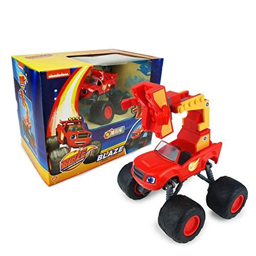 SHYYTYOU Blaze The Monster Machines Fahrzeug, Jungen und Mädchen Spielzeug Brecher LKW Fahrzeuge, Blaze, Zeg, Stripes, Starla, Darington, Pickle - Monster-lkw-spielzeug Mädchen,