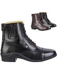 Saller Oxford Ultima RS Botines con cremallera trasera. Cómodo Boots zapato de piel de vacuno | Equitación con suela de goma resistente, ortholite de suela, Interior piel, botas tamaños 35–46, colores: Negro & Marrón, negro, 39