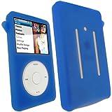 igadgitz Silikon Hülle Etui Case Schutzhülle Tasche in Blau für Apple iPod Classic 80gb, 120gb & 160gb (Ausgabe September 2009) + Display Schutzfolie + Trageschlaufe