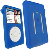 iGadgitz Blue Silicone Skin Case Cover for Apple iPod Classic 80GB, 120GB & Latest 6th Generation 160gb launched Sept 09 + Screen Protector & Lanyard